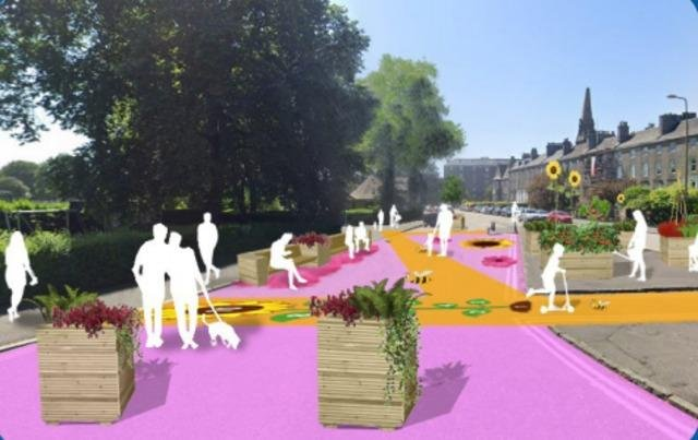 How Leith could look under the European 'vibe' plan. PIC: Contributed