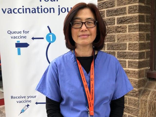 GP and Covid-19 vaccinator Dr Mimi Cogliano works as a shift lead at Gorebridge mass vaccinating centre.