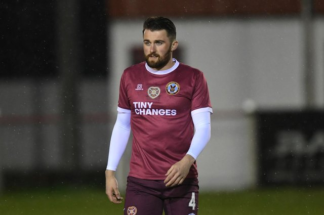 John Souttar was back on the Hearts bench on Tuesday night after more than a year out.