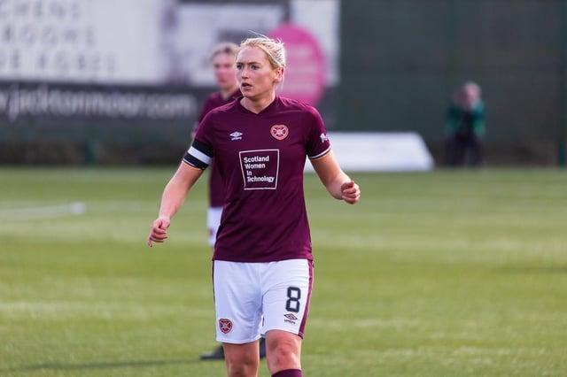Hearts Women's captain Mariel Kaney. Picture: David Mollinson