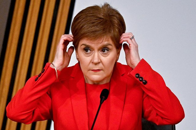 """First Minister Nicola Sturgeon said that the opening of hairdressers was in """"pure self-interest""""."""