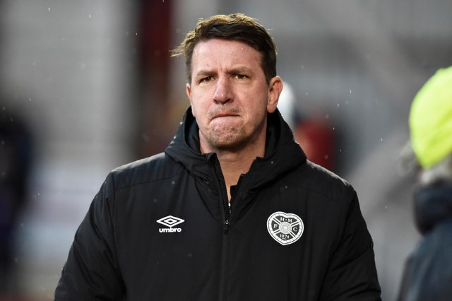 Hearts manager Daniel Stendel is working from home.