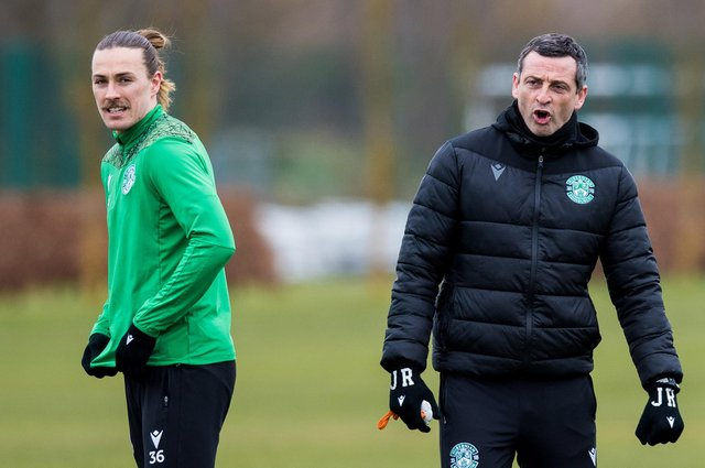 Hibs manager Jack Ross still wants to see Jackson Irvine sign a deal that will keep him at the club but says negotiations will have to wait as everyone's attention turns to the final few games of the season. Photo by Ross Parker / SNS Group