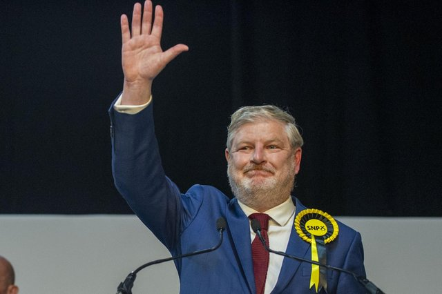 SNP's Angus Roberston wins for Edinburgh Central, taking the seat from the Scottish Conservatives. Picture: Lisa Ferguson/JPIMedia