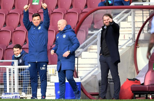 Hearts know wins in their next two games will ensure the league is won. Picture: SNS