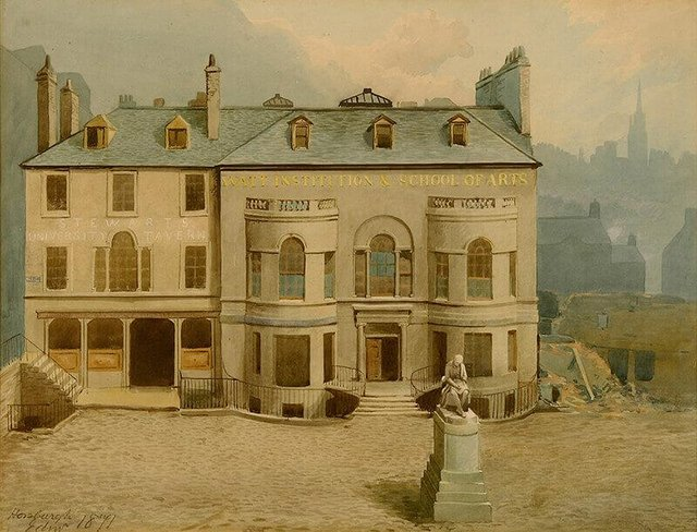 The School of Arts of Edinburgh moved to Adam Square in the Old Town in 1837. Picture: Heriot Watt University