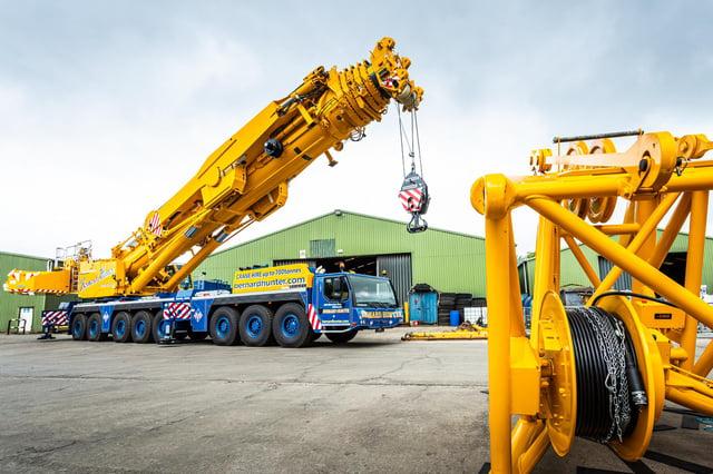 Edinburgh's Bernard Hunter Mobile Cranes said the giant vehicle put the business 'into a different league'.