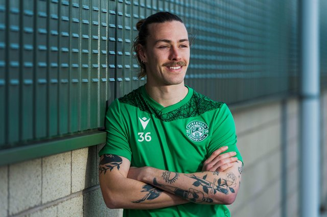 Jackson Irvine is looking at a future that could now include an extended stay at Hibs. Photo by Mark Scates / SNS Group