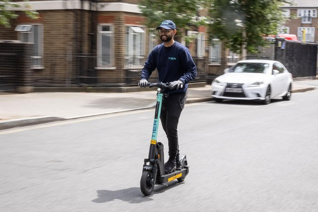 An electric scooter is used legally in London as part of a year-long trial (Picture: Leon Neal/Getty Images)