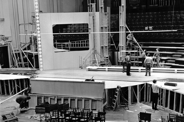 The Usher Hall undergoes a transformation for the 1972 Eurovision Song Contest