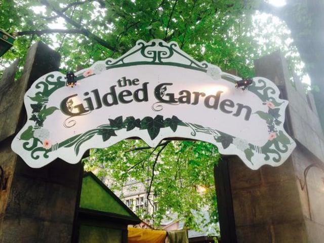 The Gilded Garden next to Teviot Row House