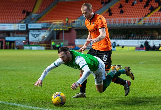 Which Hibs stars are the most fouled in the Premiership? Picture: SNS