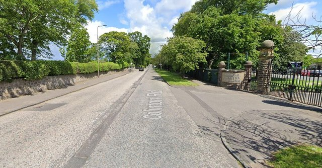 Colinton Road, near Redford Barracks and Merchiston Castle School, was blocked in both directions following reports of a fallen tree (Photo: Google Maps).