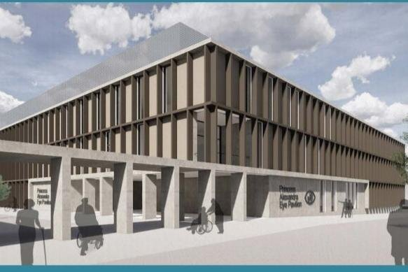 An illustration of the new new eye hospital from the original outline business case