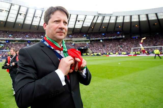 Manager Paulo Sergio led Hearts to Scottish Cup final triumph over Hibs in 2012. Picture: SNS
