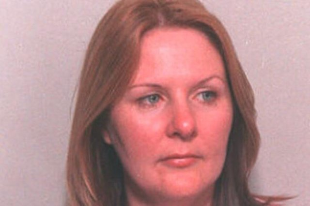 An image of Donna McCafferty shown on the 'most wanted' list in the 2000s.