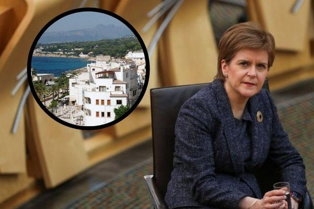 Nicola Sturgeon says holidays are still on hold because international travel bans are 'most important protection' we have against the virus.