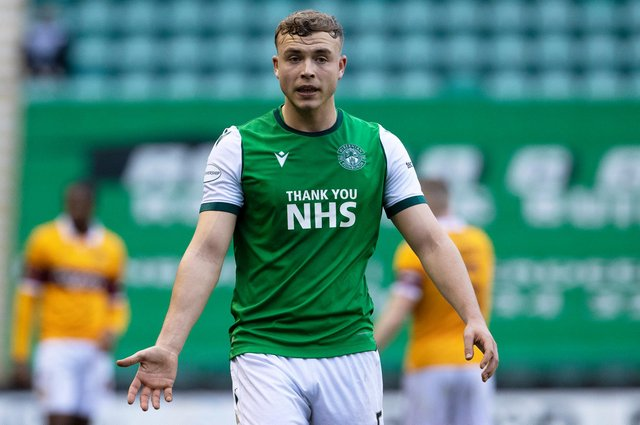 With Hibs winning games without him, defender Ryan Porteous had to wait patiently for his return to the starting line-up. Photo by Alan Harvey / SNS Group