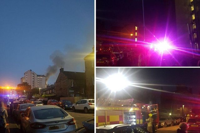 Dozens of fire fighters attended the incident on Spey Terrace, Leith. (Credit: Christopher Henson)