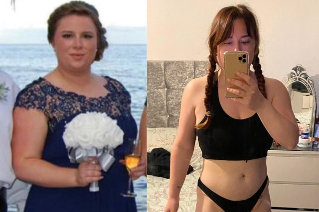 Carla Ford before and after after her weight loss