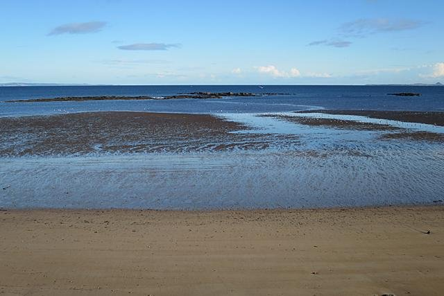 East Leith Sands lies north of Leith Docks and is closed to the public.