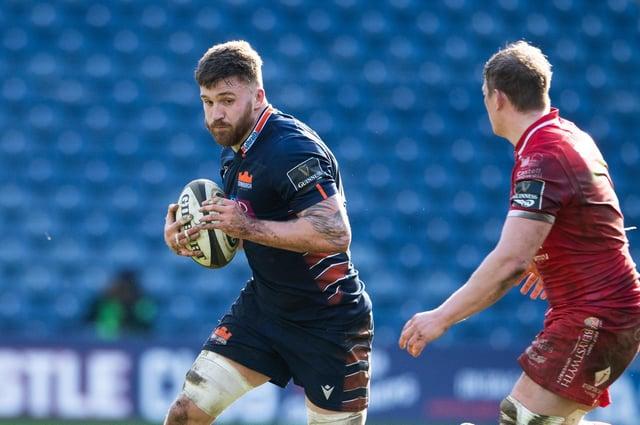 Luke Crosbie in action for Edinburgh against Scarlets. Picture: Paul Devlin/SNS