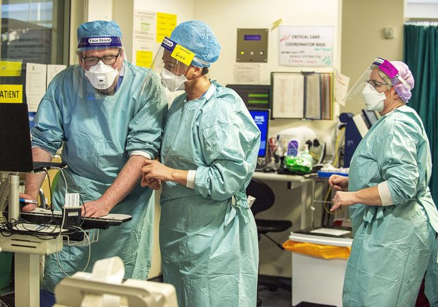 Staff at Edinburgh's Royal Infirmary, February 2021. Picture: Lisa Ferguson/JPIMedia