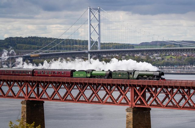The iconic steam train will be travelling across The Forth Bridge, through Fife and then back to Edinburgh between Thursday and Friday (Photo: Jane Barlow).