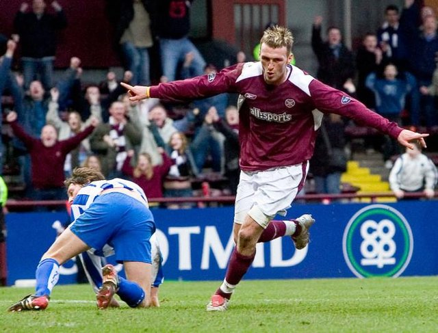 Lee Miller scored 11 goals during a short spell at Hearts in 2005. Picture: Bill Murray/SNS