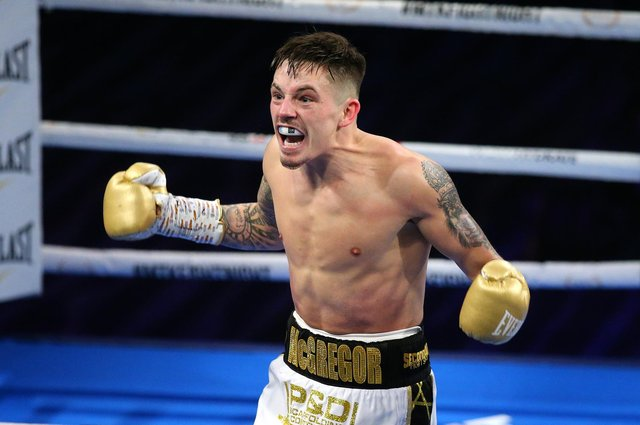 Lee McGregor defeated Karim Guerfi in March to be crowned European bantamweight champion. Picture: Alex Livesey/Getty Images