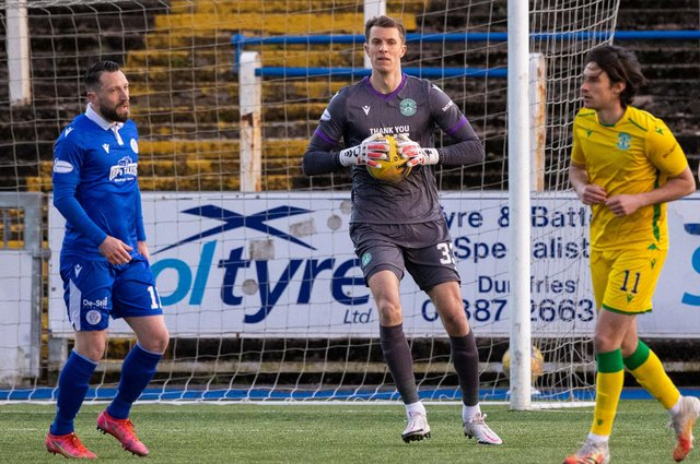 Matt Macey replaced Ofir Marciano in goals for Hibs against Queen of the South on Monday (Photo by Craig Williamson / SNS Group)
