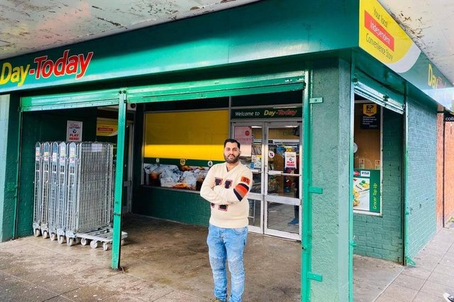 This convenience store in Drylaw which been described as a 'lifeline' has been broken into  (image Zahid Iqbal of Day-Today).