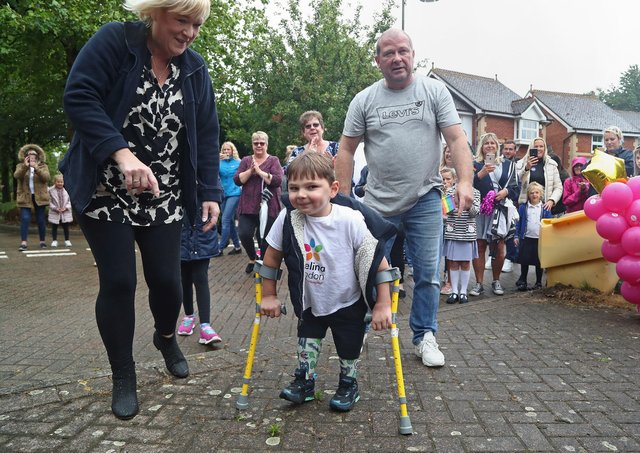 Tony raised more than £1.5m last year by completing a 10km walking challenge (Photo: Gareth Fuller)