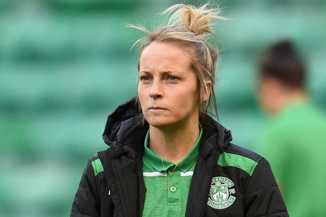 Hibs captain Joelle Murray has recovered from injury and is looking forward to a busy schedule of fixtures starting early next month. Picture: Ross MacDonald/SNS