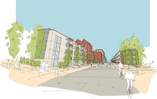 First visualisation of the proposed new 'urban quarter' t the Gyle shopping centre