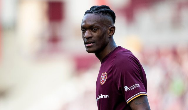 Hearts striker Armand Gnanduillet has four goals in seven games for the club.
