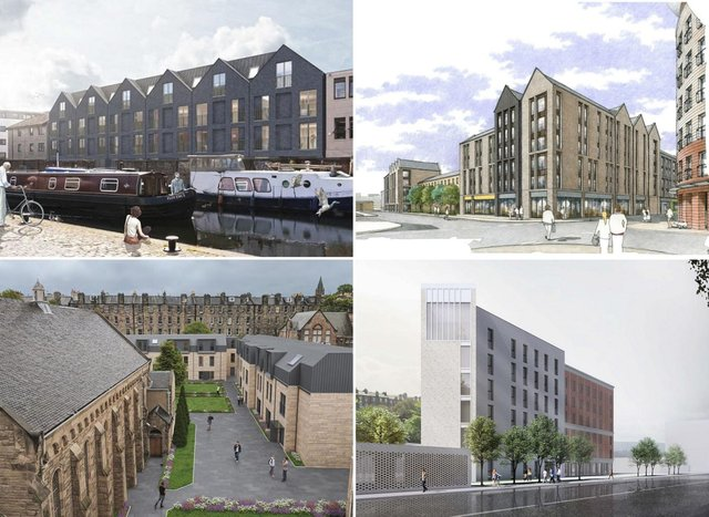 Some of the student residences that will be built in Edinburgh over the coming years.