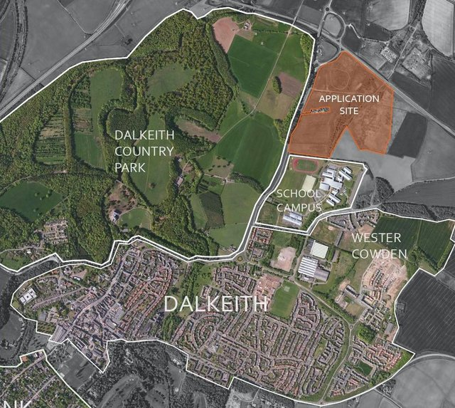 Development planned on land east of Salters Road, Dalkeith, Midlothian known as Salter's Park.