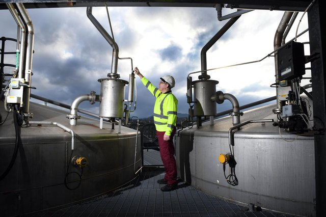The North British Distillery Company is one of Scotland's largest Scotch grain whisky producers and is situated in the west of Edinburgh. Picture: Paul Chappells
