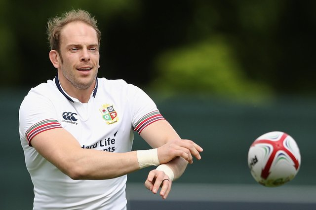 Alun Wyn Jones will lead the Lions in South Africa this summer.