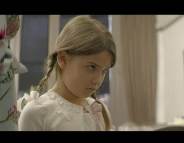 Abby as 'young Nina' in the BBC Three series