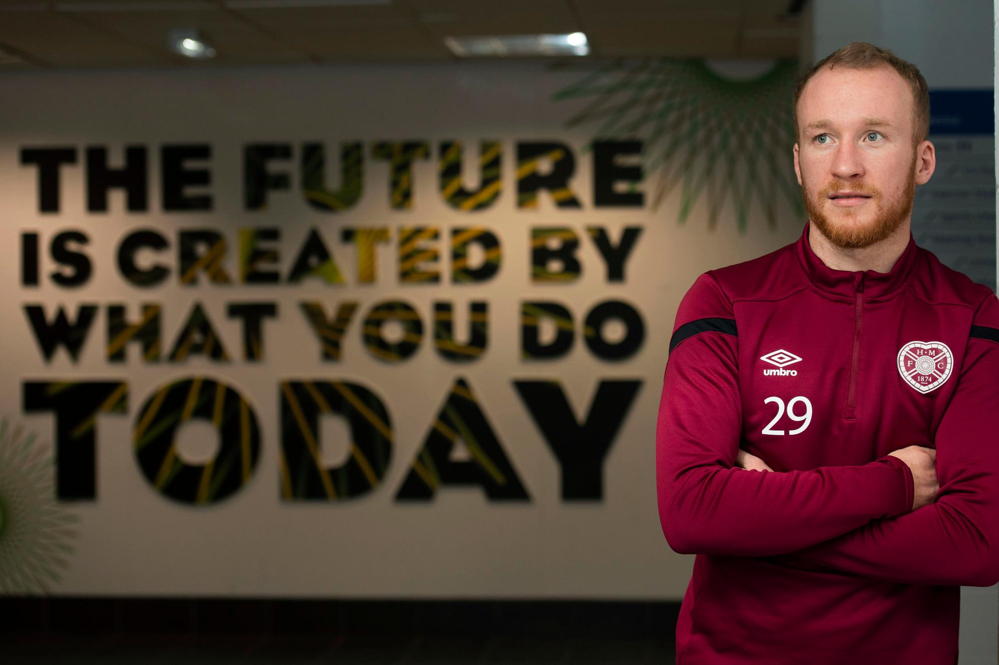 Liam Boyce reveals he is staying at Tynecastle for a big year with Hearts and Northern Ireland