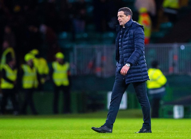 Jack Ross will see his team in action at Parkhead this afternoon. Picture: SNS