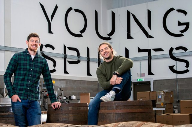 John Ferguson and Alex Harrison, the co-founders of Edinburgh-based Young Spirits Company. Picture: Lesley Martin