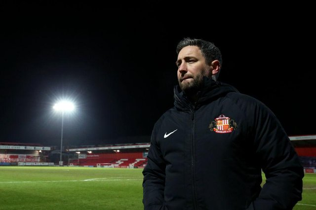 Former Hearts boss Lee Johnson is in charge of Sunderland. (Photo by Lewis Storey/Getty Images)