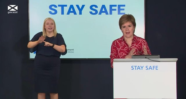 First Minister Nicola Sturgeon gave a Covid update on Friday.