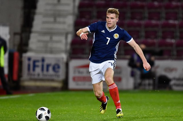 Chris Cadden in action for Scotland U-21 back in 2018. He has since earned two full caps and is hoping he will have the opportunity to add to them when Steve Clarke names his squad for the upcoming World Cup qualifiers. Photo by Rob Casey/SNS Group