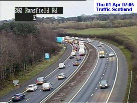 Broken down vehicle causes early morning delays on the M8.