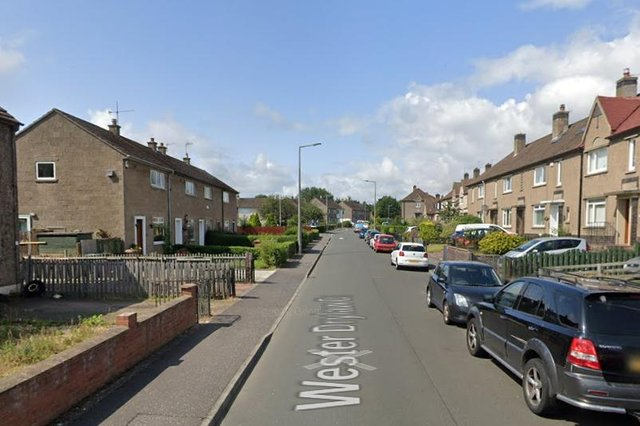 The incident happened in Wester Drylaw Drive at around 3.45pm on Tuesday, March 9. Pic: Google