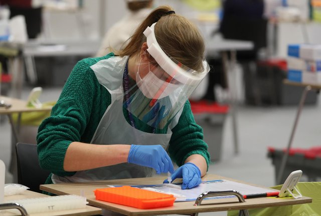 Lateral flow Covid testing. Picture: PA Media